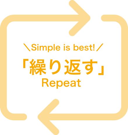Simple is bast!「繰り返す」Repeat