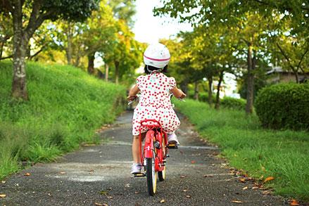 初めて自転車に乗れた時 イメージ